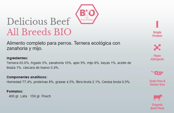 Amanova BIO Dog Delicious Beef 150g GLUTEN FREE