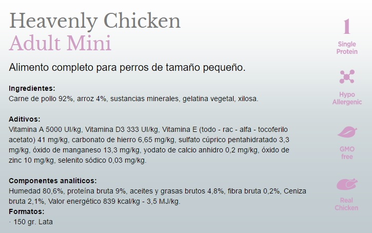 Amanova Dog Adult Mini Heavenly Chicken