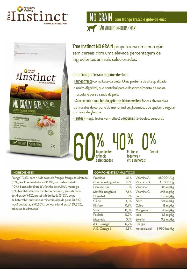 True Instinct No Grain Medium/Maxi Adult Chicken