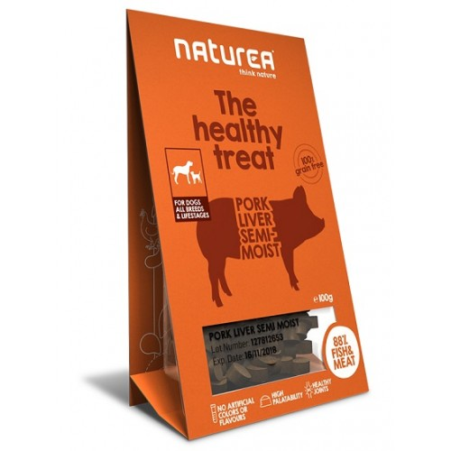 Naturea Treats for Dogs Pork Liver Semi-Moist