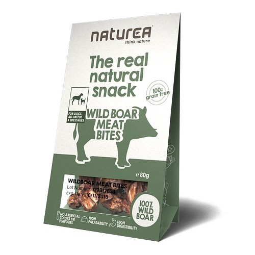 Naturea Snacks for Dogs Wildboar Meat Bites