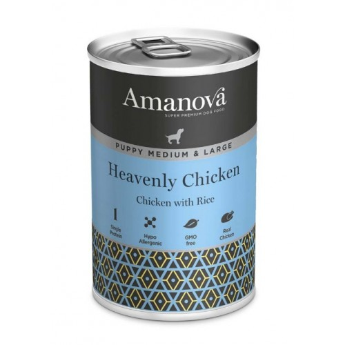 Amanova Dog Puppy Med.&Large Heavenly Chicken