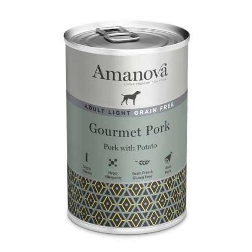 Amanova Dog Adult OBESITY GRAIN FREE Pork