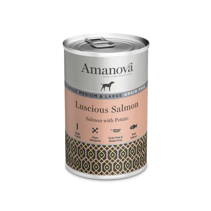 Amanova Dog Adult Med.&Large Grain Free Salmon