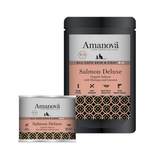 Amanova BIO Cat Salmon SKIN & COAT GRAIN FREE