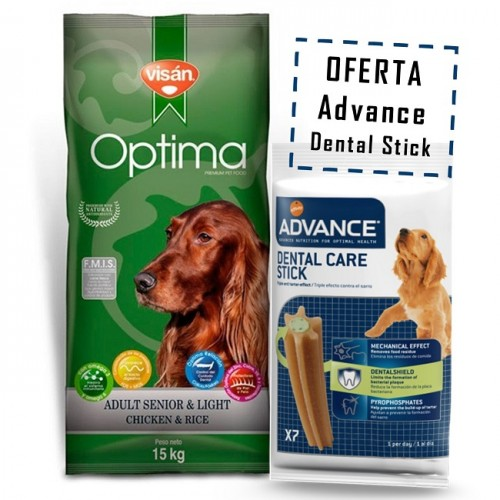 OPTIMA ADULT SENSITIVE SENIOR & LIGHT 15kg