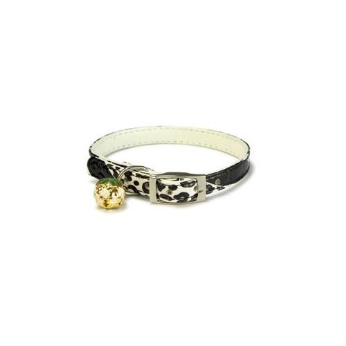 Coleira Leopardo Preta