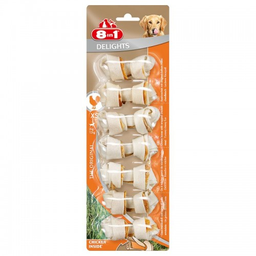 8in1 Delights Chicken Bone XS