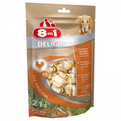 8in1 Delights Chicken Bone XS 14uni